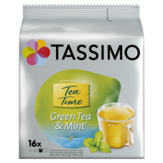 TASSIMO Dosettes de thé tea time thé vert et menthe 16 dosettes 40g