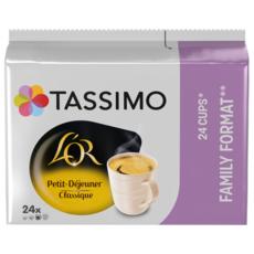 TASSIMO Dosettes de café L'Or espresso petit déjeuner classique 24 dosettes 199g