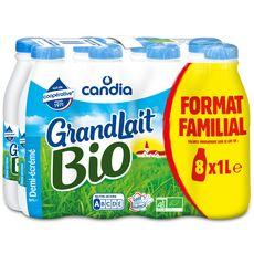 CANDIA Grandlait Lait demi-écrémé bio 8x1l