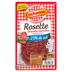 COCHONOU Rosette -25% de sel 10 tranches 100g