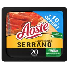 AOSTE Le quart tranché serrano 20 tranches 200g+10% offert