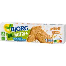 BJORG Bio Nutri+ Biscuits à l'avoine et aux graines de sésame 130g