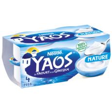 YAOS Yaourt à la grecque nature 4x150g