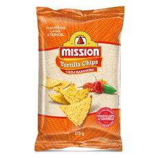 MISSION Tortillas chips de maïs goût piment sans gluten 175g