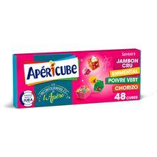 APERICUBE Cubes de fromage apéritif Incontournables de l'Apéro 48 cubes 250g