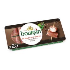 BOURSIN Apéritif Roulés de jambon fumé au poivre 20 roulés 100g