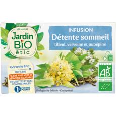 JARDIN BIO ETIC Infusion détente sommeil tilleul verveine et aubépine 20 sachets 30g