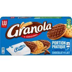 GRANOLA Pocket biscuits sablés nappés de chocolat au lait, sachets fraîcheur 225g