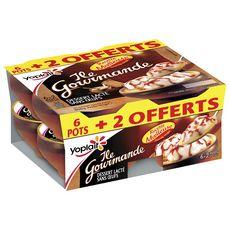 YOPLAIT Gourmande dessert lacté sans œufs 6+2 offerts 808g