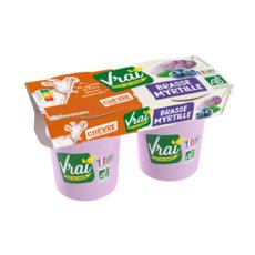 VRAI Yaourt brassé myrtilles bio au lait de chèvre 2x115g