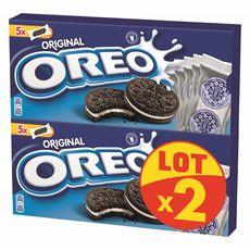 OREO Biscuits cacaotés fourrés vanille 2x220g
