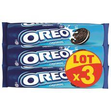 OREO Biscuits cacaotés fourrés vanille 3x154g