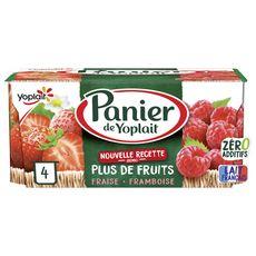 Yoplait PANIER DE YOPLAIT Yaourt fraise framboise