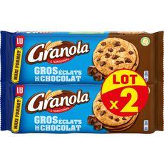 GRANOLA Maxi Cookies aux gros éclats de chocolat au lait 2x276g