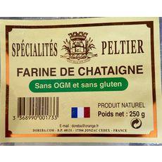 PELTIER Farine de châtaigne sans OGM et sans gluten 250g