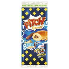 PITCH Brioches chocolat au lait et céréales croustillantes 8 pièces 320g