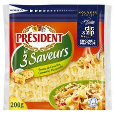 PRESIDENT PRESIDENT RAPE LE 3 SAVEURS 200G 200g