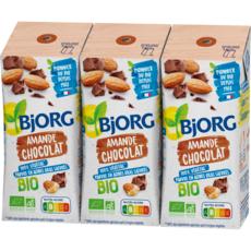 BJORG Lait d'amande chocolat calcium bio 3x20cl