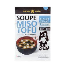 HIKARI Soupe miso instantannée tofu algues wakame 3 portions 57,9g