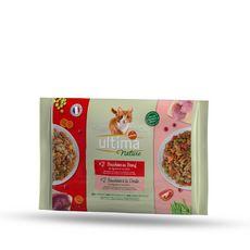 ULTIMA NATURE Sachets repas bouchées à la viande aux légumes et fruits pour chat 4x85g