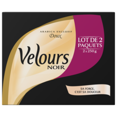 VELOURS NOIR Café moulu arabica exclusif doux 2X250g