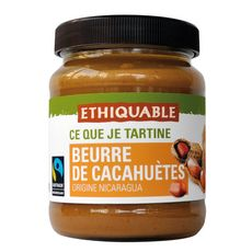 ETHIQUABLE Beurre de cacahuète du Nicaragua  350g