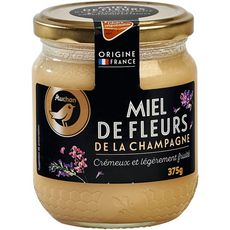 AUCHAN GOURMET Miel de fleurs de la Champagne crémeux et légèrement fruité 375g