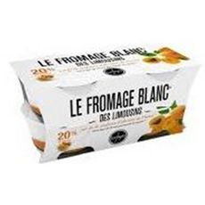 LES FAYES Fromage blanc des Limousins abricots 40%MG  4x125g