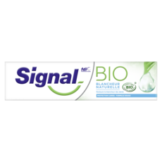 SIGNAL BIO Dentifrice blancheur naturelle & protection caries 75ml