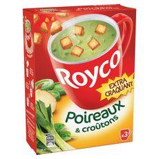 ROYCO Soupe instantanée poireaux et croûtons extra craquant 3 sachets 60cl