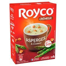 ROYCO Soupe instantanée crème d'asperges et croûtons 4 sachets 80cl