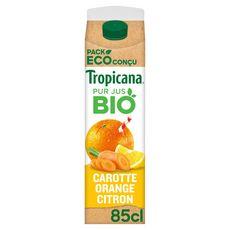 TROPICANA Bio Jus de carotte orange et citron  85cl