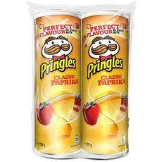 PRINGLES Tuiles salée goût classique paprika  2x175g