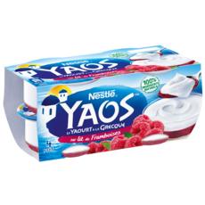 Yaos Yaourt à la grecque sur lit de framboise 4x125g
