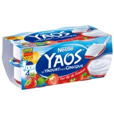 NESTLE Yaourt à la grecque sur lit de fraises 4x125g