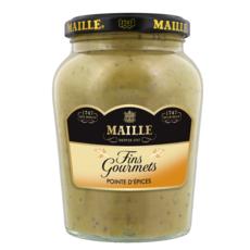 MAILLE Moutarde fins gourmets pointe d'épices 340g
