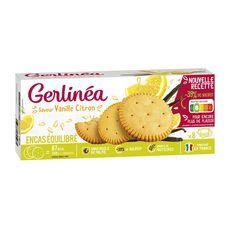 GERLINEA Biscuits saveur vanille citron riches en protéines sachets 24x6,5g 156g