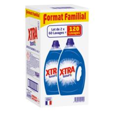 X-TRA Total Lessive diluée 120 lavages 2x3l