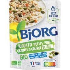 BJORG Risotto de petits pois et graines de courge bio veggie en poche 1 personne 250g