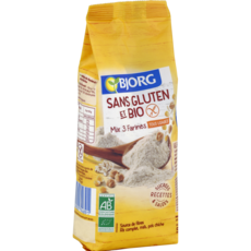 BJORG Mix 3 farines bio sans gluten  500g
