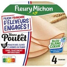 FLEURY MICHON Blanc de poulet 4 tranches 140g