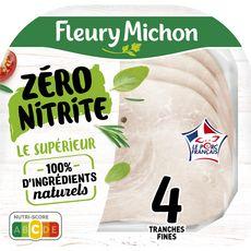 FLEURY MICHON Jambon blanc sans nitrite sans couenne 4 tranches 4 tranches 120g