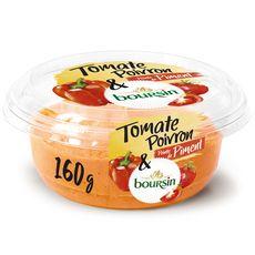 BOURSIN Spécialité à tartiner tomate poivron et pointe de piment 160g