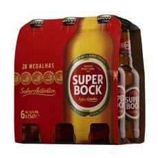 SUPER BOCK Bière blonde portugaise 5,6% bouteilles 6x25cl