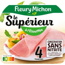 FLEURY MICHON Le supérieur Jambon cuit  à l'étouffée  4 tranches 140g