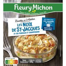 FLEURY MICHON Recettes de l'Atelier Cassolette de Saint-Jacques poireaux et champignons 1 pièce 140g