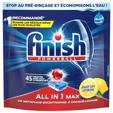 FINISH Powerball tablettes lave-vaisselle parfum citron 45 lavages 45 tablettes