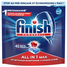 FINISH Powerball tablettes lave-vaisselle tout-en-1 max 45 lavages 45 tablettes