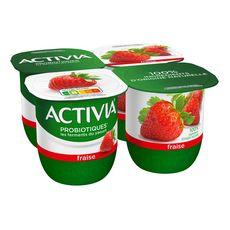 ACTIVIA Yaourts aux fruits bifidus fraise 4x125g