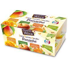 CHARLES & ALICE Spécialité pomme mangue abricot poire sans sucres ajoutés 16x100g